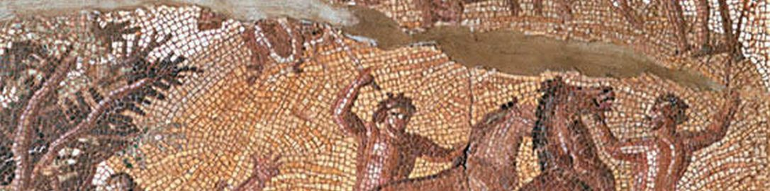 Roman mosaic showing work in the field