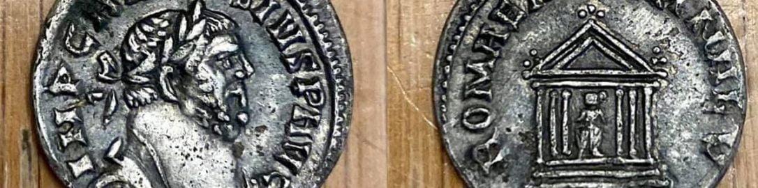 Roman denarius of usurper Carausius