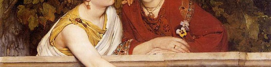 Roman women in the painting by Lawrence Alma-Tadema