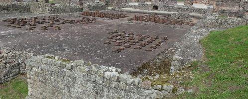 The remains of the Roman city of Viriconium Cornoviorum