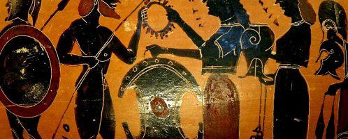 Scena wręczenia Achillesowi tarczy