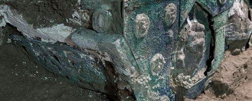 Ostatnio odkryty rzymski rydwan w Pompejach