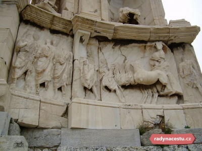 Decorations on the monument of Philopappos