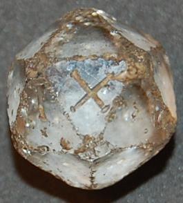 Kostka dwudziestościenna z kryształu górskiego, I II w. n.e.