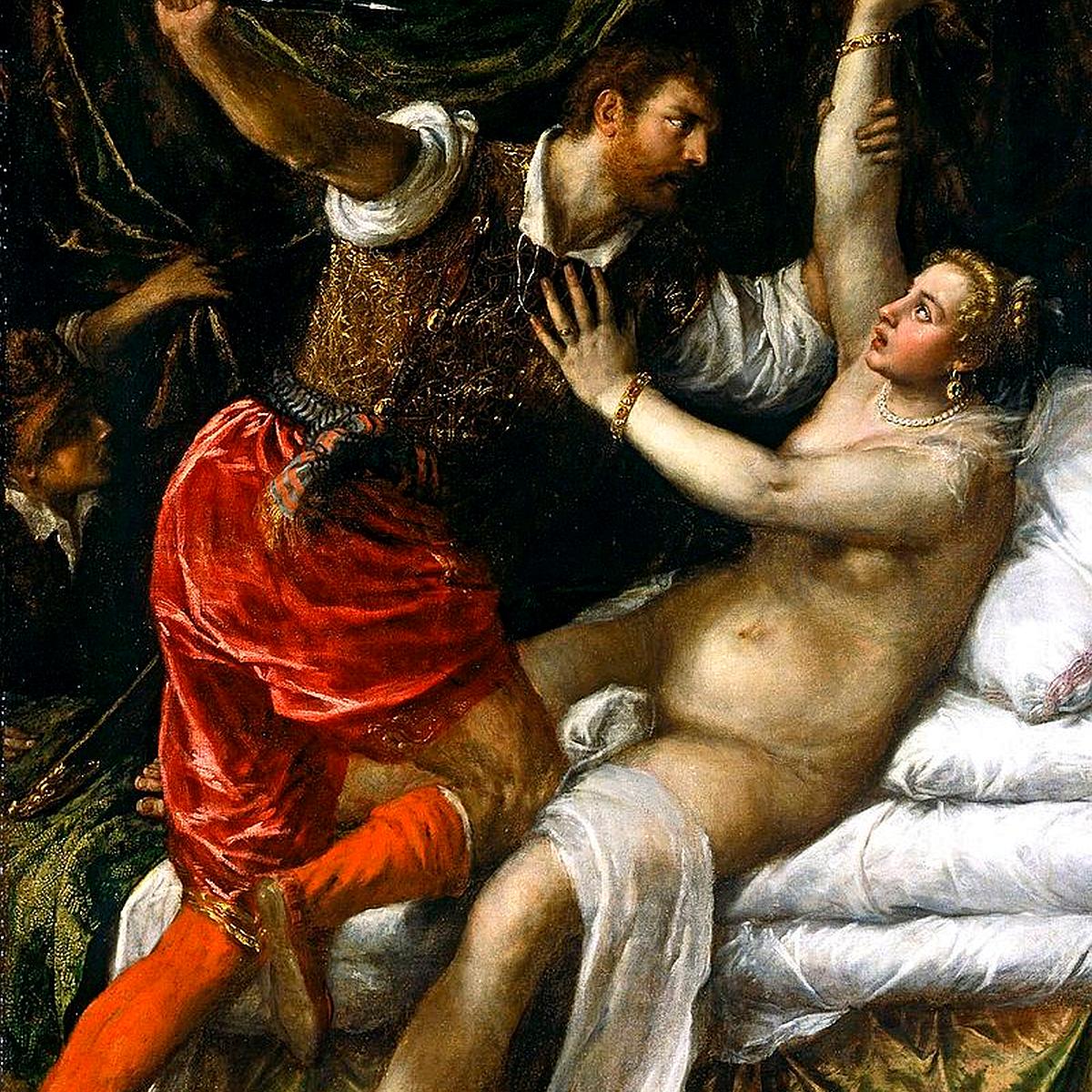 Lukrecja i Sekstus - obraz autorstwa Tycjana