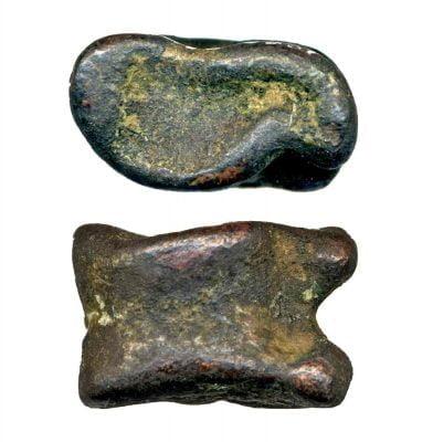 Metalowy astragal, I II w. n.e.