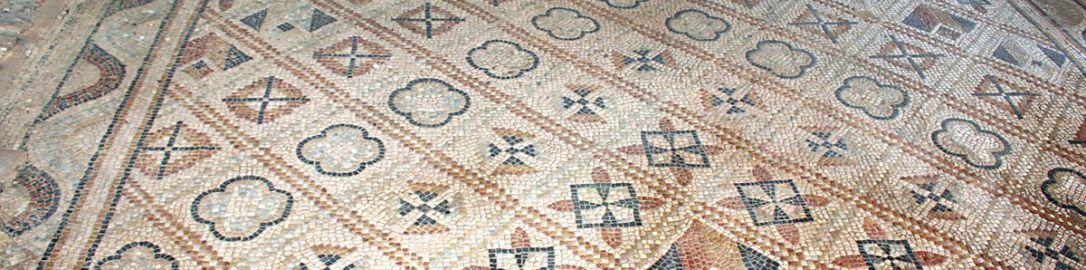 Piękna rzymska mozaika z Francji