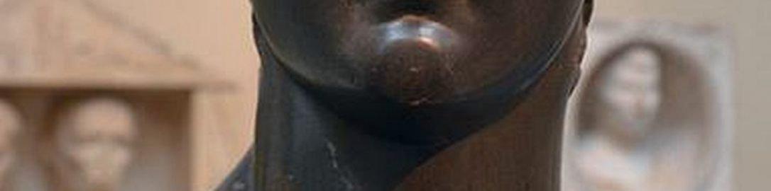 Popiersie Germanika z ułamanym nosem i krzyżem na czole
