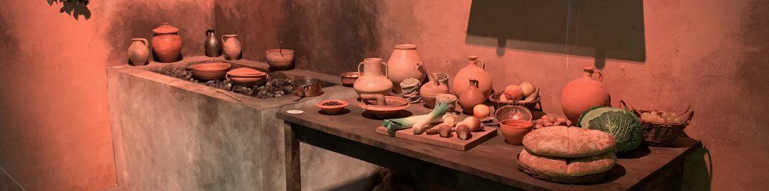 Rekonstrukcja kuchni w rzymskim barze