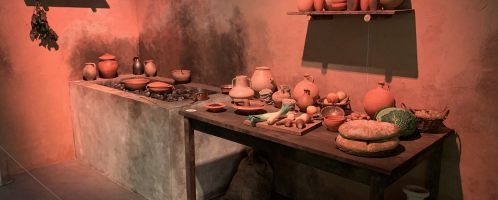 Reconstruction of kitchen in Roman bar