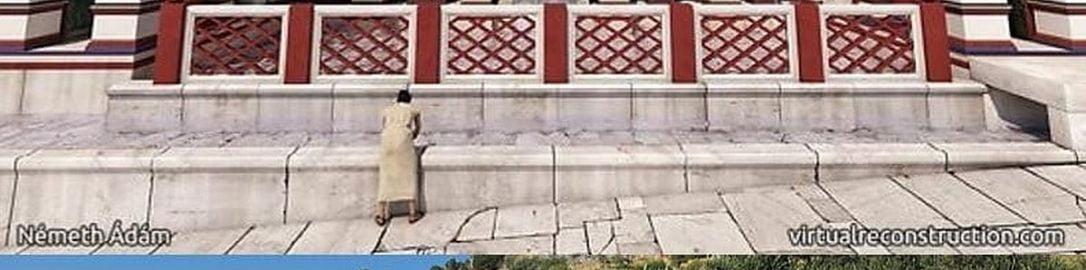 Reconstruction of Trajan nymphaeum in Ephesus