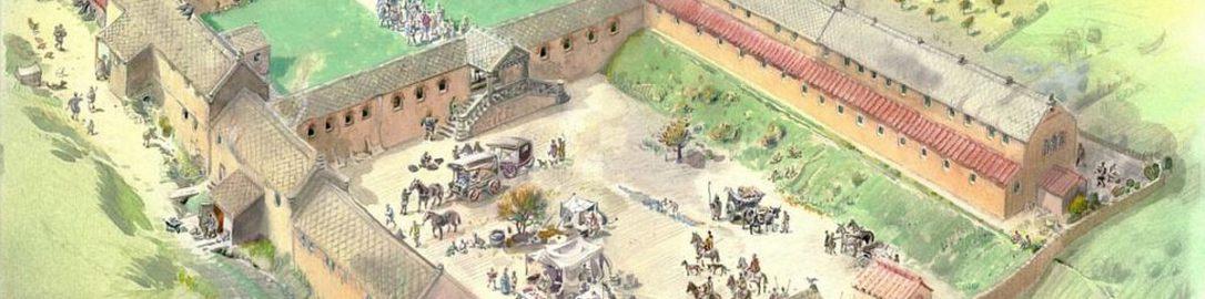 Rekonstrukcja rzymskiej willi w Chedworth