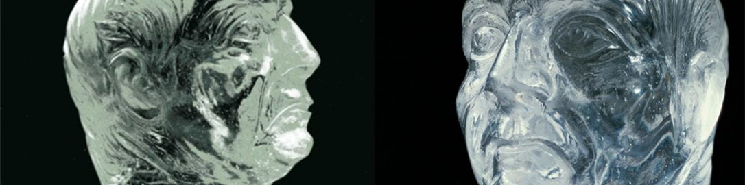 Roman rock crystal showing man's head