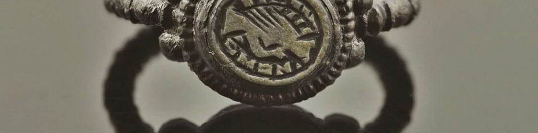 Rzymski srebrny pierścionek zaręczynowy