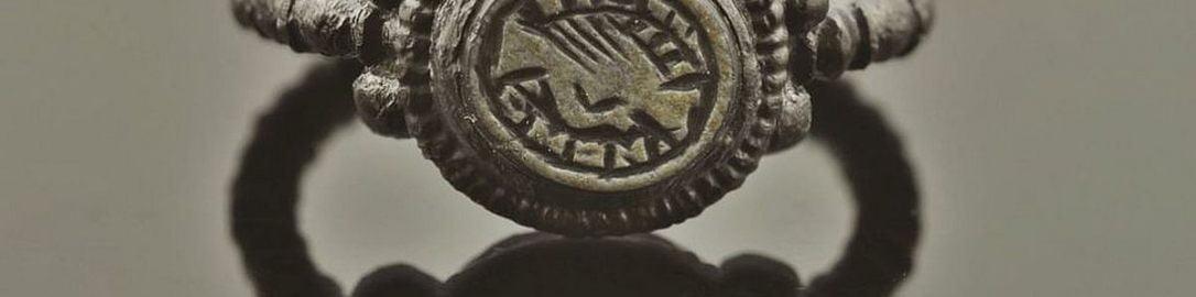Roman silver engagement ring