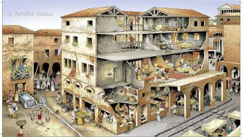 Visualization of tenement house in ancient Rome