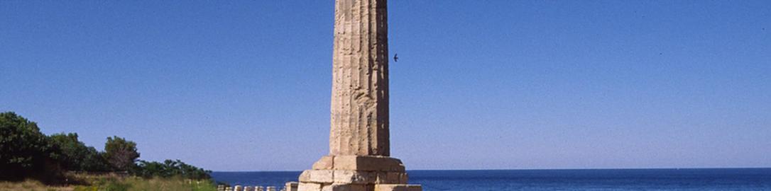 Zachowana kolumna ze świątyni Junony Lacyńskiej