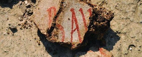 Fragment rzymskiego malunku ściennego z amfiteatru