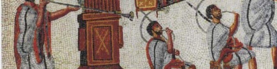 Hydraulis on the Roman mosaic