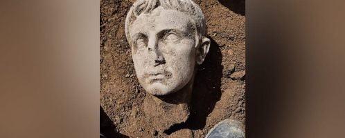 Odkryto liczącą dwa tysiące lat głowę cesarza Augusta
