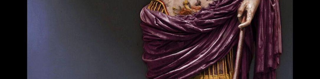 Reconstruction of sculpture of Augustus of Prima Porta