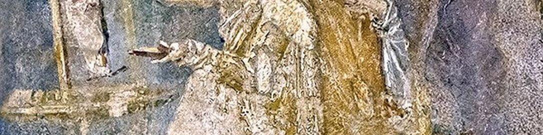 Roman fresco from Pompeii depicting painter