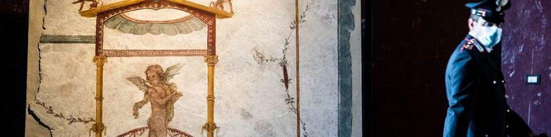 Amor na rzymskim fresku