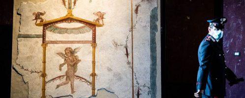 Amor on a Roman fresco