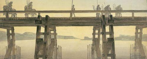 John Soane, Caesar Bridge on the Rhine