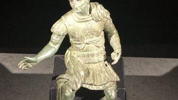 Small statuette depicting Nero in armor