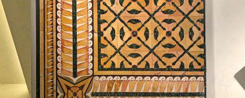 Piękna rzymska marmurowa podłoga