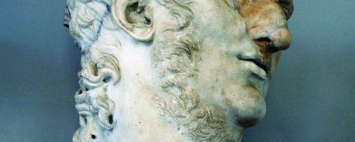 Popiersie cesarza Nerona. Obiekt znajduje się w Rzymie, w Muzeaach Kapitolińskich