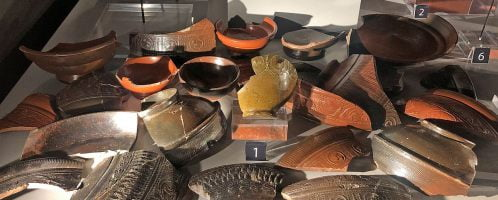 Pozostałości ceramiki z czasów Boudiki