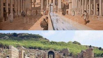 Rekonstrukcja nimfeum Hadriana w Perge