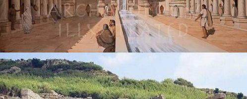 Reconstruction of Hadrian's nymphaeum in Perge