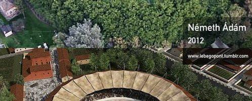 Reconstruction of Roman amphitheater in Aquincum