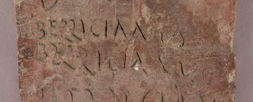 Roman brick from Caerwent