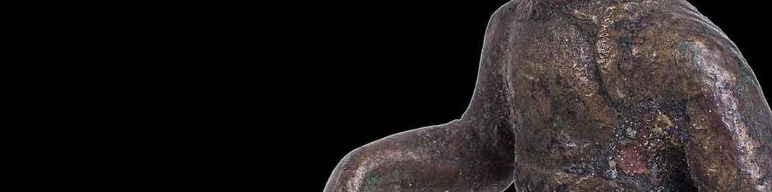 Rzymska figurka ukazująca gladiatora typu secutor