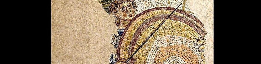 Rzymska mozaika ukazująca venatores