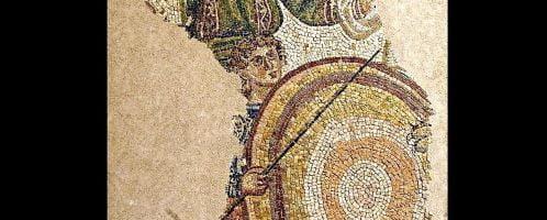 Roman mosaic showing venatores