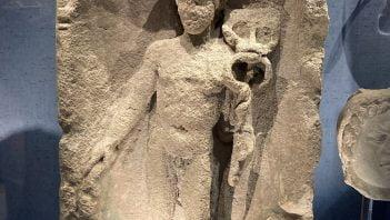 Roman bas-relief depicting god Mercury