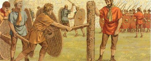Trening legionistów rzymskich
