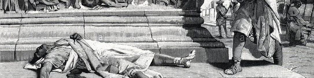Francesco Bertolini, Ciało Publiusza Klodiusza Pulchera znalezione na drodze appijskiej