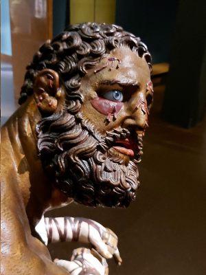 Reconstruction of boxer's sculpture