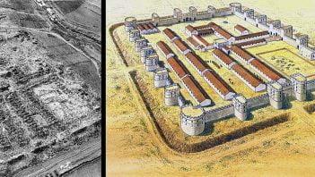 Reconstruction of Roman fortress at El-Lajjun