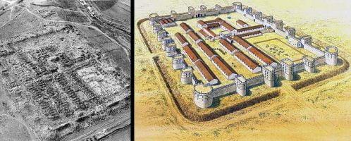 Rekonstrukcja rzymskiej twierdzy w El Lajjun