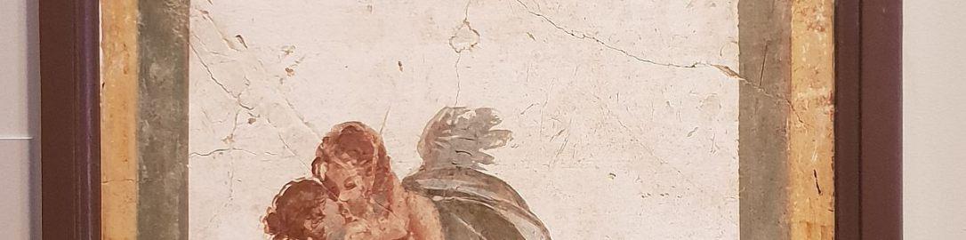 Rzymski fresk ukazujący Amora i Psyche