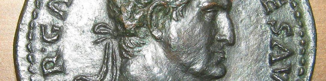 Moneta ukazująca cesarza Galby z corona civica na głowie