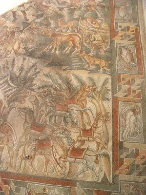 Mosaic from the villa Villa Romana del Tellaro in Sicily