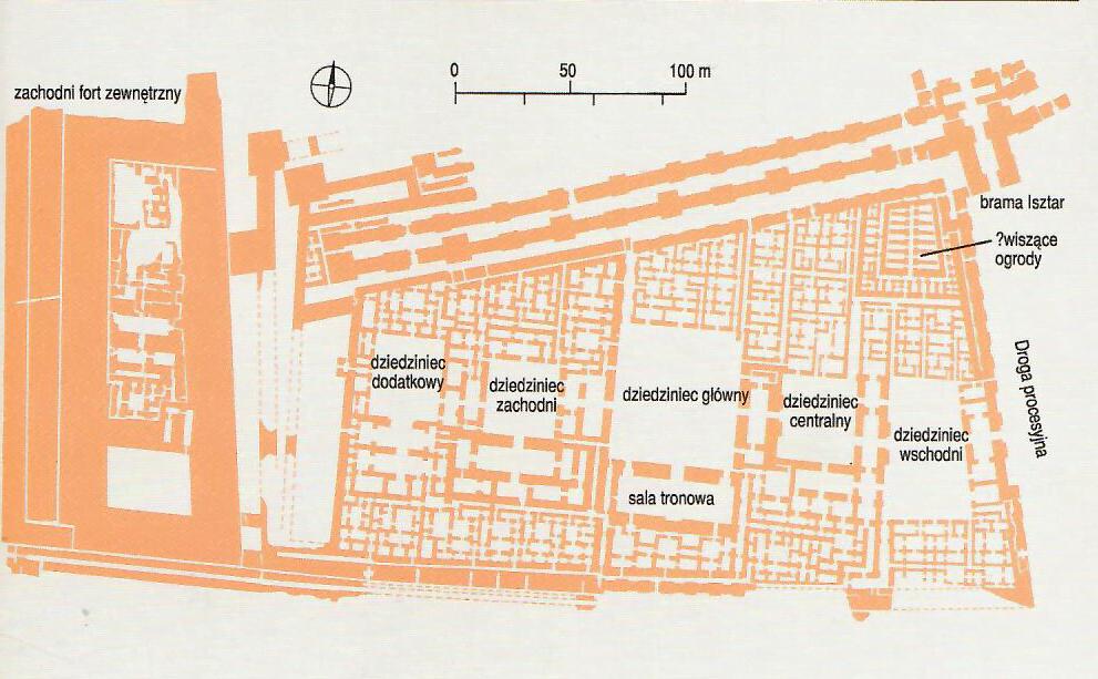 Pałac Nabuchodonozora II; Roaf M., Mezopotamia, tlum. H. Turczyn Zalewska, Warszawa 1998, s. 193
